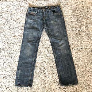 Miss Sixty Washed Straight Leg Denim Jeans Sz 30